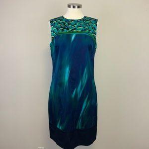 Elie Tahari Silk Northern Lights Sheath Dress 10